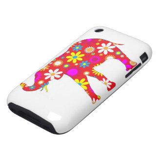 Caso floral retro enrrollado del iphone 3G del Tough iPhone 3 Coberturas