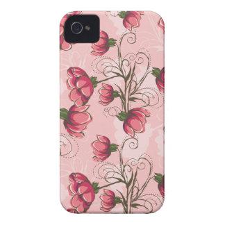 Caso floral rosado femenino del iPhone 4s Funda Para iPhone 4 De Case-Mate