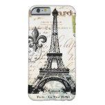 Caso francés del iPhone 6 de la torre Eiffel del Funda De iPhone 6 Barely There