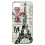 Caso francés del iPhone del vintage de la torre Ei iPhone 5 Protector