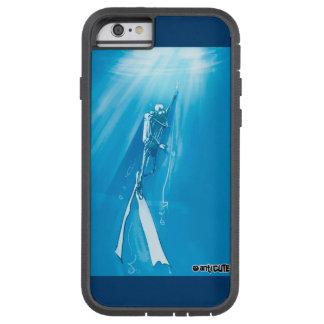 caso fresco del buceador azul profundo funda para  iPhone 6 tough xtreme