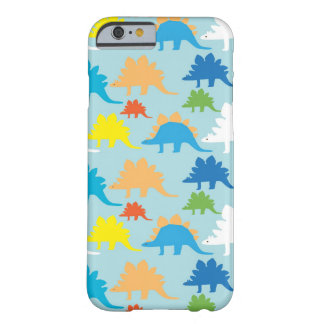 Caso fresco del iPhone 6 de los dinosaurios azul Funda Para iPhone 6 Barely There