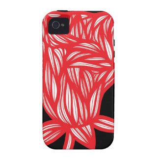 Caso fresco lindo único floral del iPhone 4 Vibe iPhone 4 Carcasas