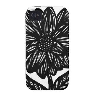 Caso fresco lindo único floral del iPhone 4 iPhone 4/4S Funda