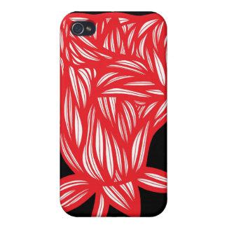 Caso fresco lindo único floral del iPhone 4 iPhone 4/4S Fundas