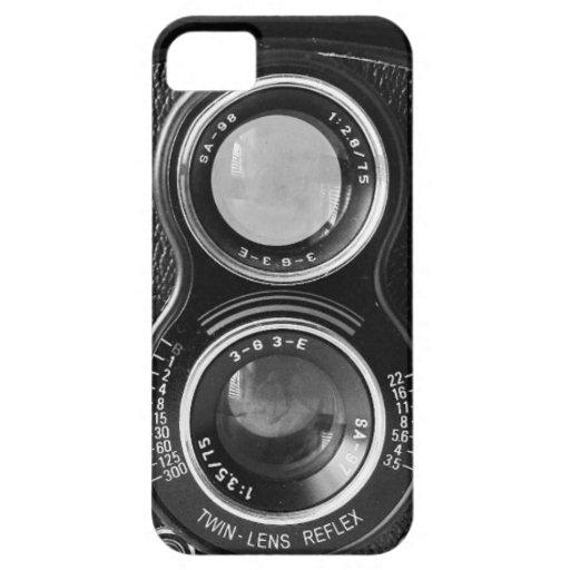 Caso gemelo de Lense Relex iPhone 5 Cárcasa