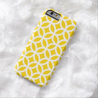 Caso geométrico del iPhone 6 del amarillo del Funda De iPhone 6 Barely There