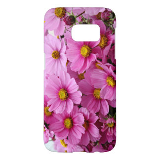 Caso hermoso con las flores rosadas, atractivas funda samsung galaxy s7
