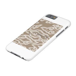 caso indonesio de Iphone 5 del adorno del batik Funda Barely There iPhone 6