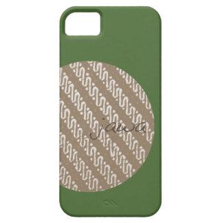 caso indonesio de Iphone 5 del adorno del batik iPhone 5 Case-Mate Carcasa