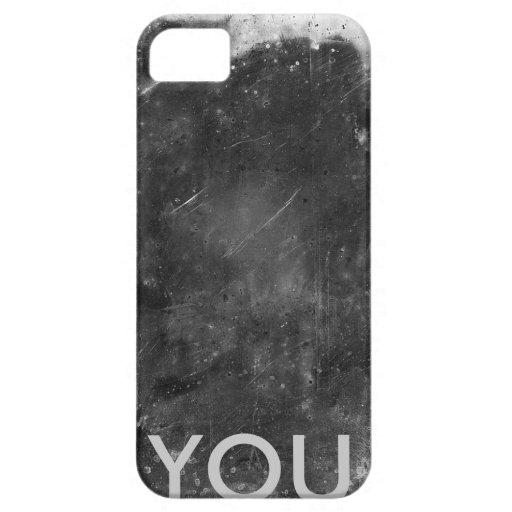 Caso inicial con textura del metal iPhone 5 Case-Mate coberturas