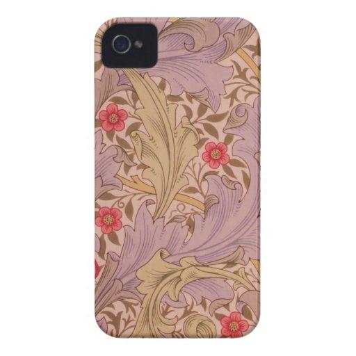 Caso intrépido floral de Nouveau Blackberry del ar Case-Mate iPhone 4 Fundas