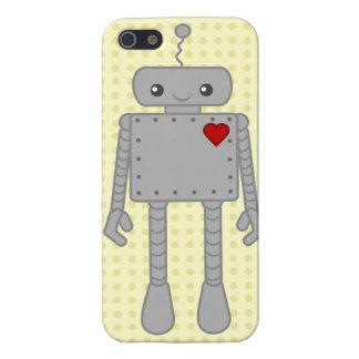 Caso lindo de IPhone del robot iPhone 5 Fundas