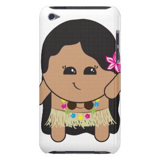 Caso lindo de iTouch del chica de Hula Cubierta Para iPod De Barely There