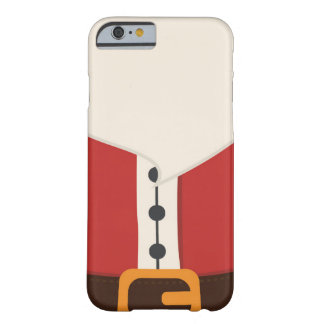 Caso lindo del iPhone 6/6s del traje de Papá Noel Funda Barely There iPhone 6