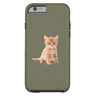 Caso lindo del iPhone 6 del gatito del calicó Funda Para iPhone 6 Tough