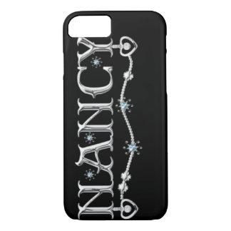 """CASO lindo del iPhone 7 de """"Nancy"""" del MONOGRAMA Funda iPhone 7"""