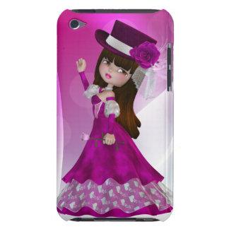 Caso lindo del tacto de princesa iPod Barely There iPod Protectores