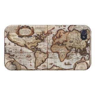 Caso listo del iPhone 4 del mapa de Viejo Mundo iPhone 4 Carcasa