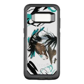 Caso majestuoso de la célula del caballo del Pinto Funda Otterbox Commuter Para Samsung Galaxy S8