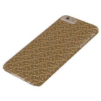 Caso más de IPhone 6 de oro del damasco Funda Barely There iPhone 6 Plus