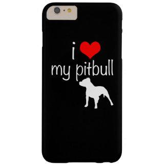 caso más del iPhone 6 - amor de i mi pitbull Funda De iPhone 6 Plus Barely There