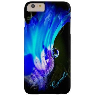 Caso más del iPhone 6 azules brillantes del Funda Barely There iPhone 6 Plus
