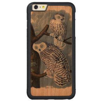 Caso más del iPhone 6 de madera del búho Nevado