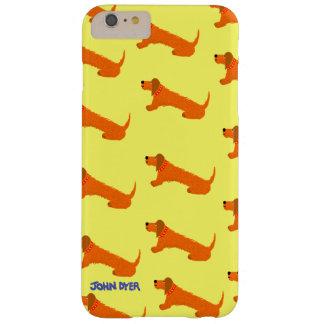 Caso más del iPhone 6 del arte: Perro de salchicha Funda Barely There iPhone 6 Plus