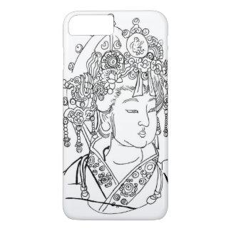 caso más del iPhone 7 con arte del chino Funda iPhone 7 Plus