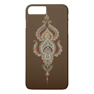 Caso más del iPhone 7 de Brown Paisley Barely Funda iPhone 7 Plus