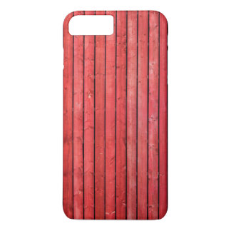Caso más del iPhone 7 de madera rojos de los Funda iPhone 7 Plus