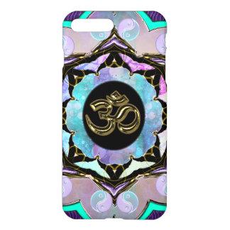 Caso más del iPhone 7 de oro púrpuras de OM de la