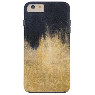 Caso más del iPhone 7 del negro y del oro Funda Resistente iPhone 6 Plus