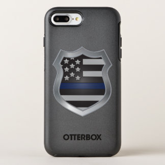 Caso más del iPhone 7 finos de Blue Line Funda OtterBox Symmetry Para iPhone 7 Plus
