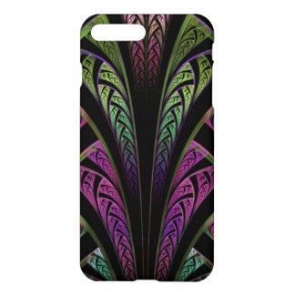 Caso más del iPhone 7 púrpuras del verde del