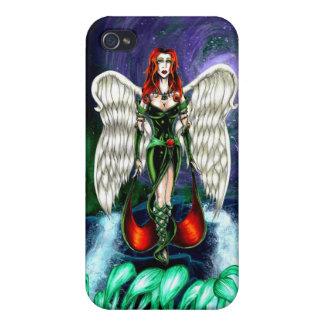 """Caso mate del iPhone 4 esmeralda del ángel por """"co iPhone 4 Carcasas"""