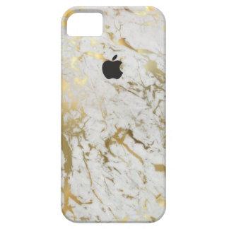 Caso mate del iPhone 5 del mármol del oro Funda Para iPhone SE/5/5s