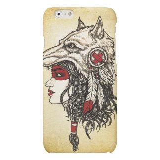 Caso mate del iPhone 6 del tocado del lobo
