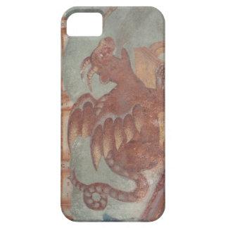 Caso medieval del fresco del dragón para el iPhone iPhone 5 Carcasas