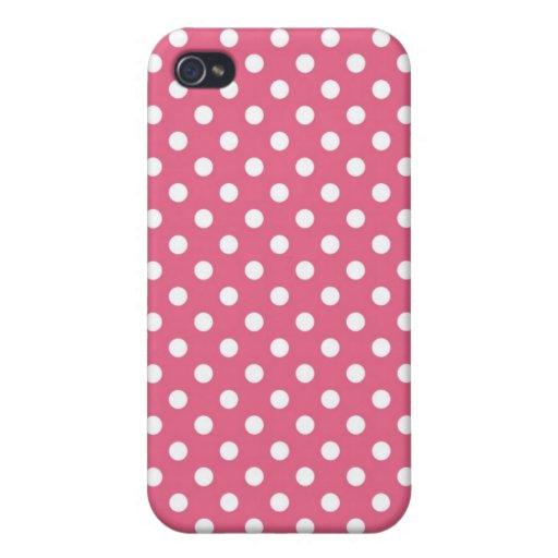 Caso medio rosado de Iphone 4 del lunar de la madr iPhone 4 Fundas