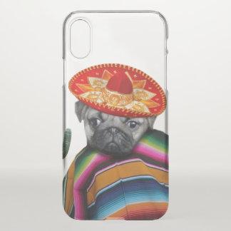 Caso mexicano del iphone x del perro del barro funda para iPhone x