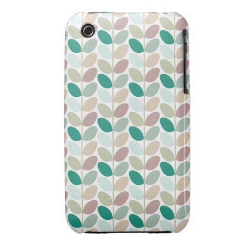 Caso modelado floral retro Case-Mate iPhone 3 fundas