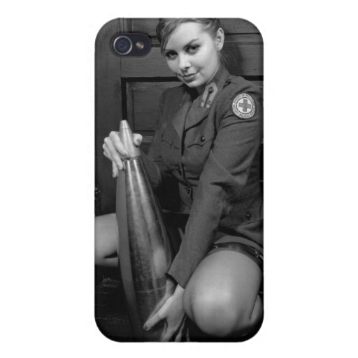Caso modelo militar del iphone 4 del chica iPhone 4/4S carcasas