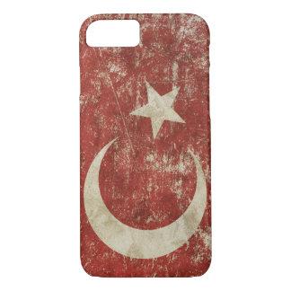 Caso patriótico con la bandera de Turquía Funda Para iPhone 8/7