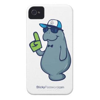 Caso pegajoso del iPhone 4 de la contraseña - Sr Case-Mate iPhone 4 Coberturas