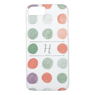 Caso pintado del iPhone de los lunares Funda iPhone 7