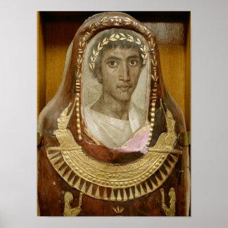Caso pintado y dorado de la momia de Artemidorus Poster