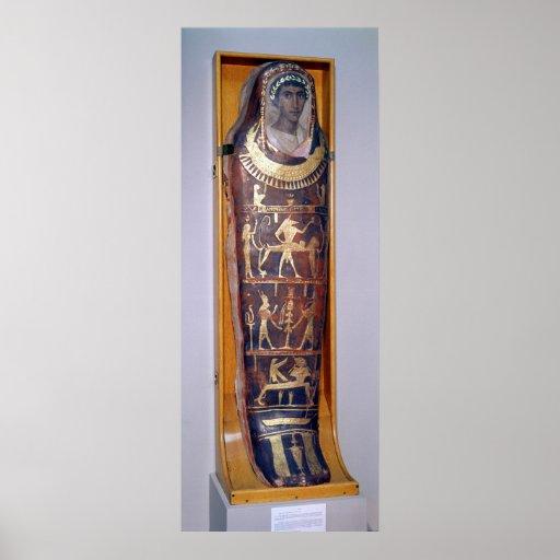 Caso pintado y dorado de la momia de Artemidorus Impresiones