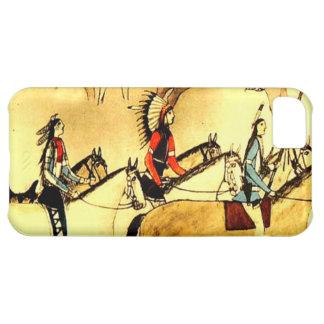 Caso primitivo de Iphone del arte de los indios de Carcasa Para iPhone 5C